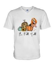 Basset Hound V-Neck T-Shirt thumbnail