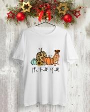 Rhodesian Ridgeback Classic T-Shirt lifestyle-holiday-crewneck-front-2
