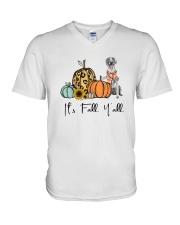 Weimaraner V-Neck T-Shirt thumbnail