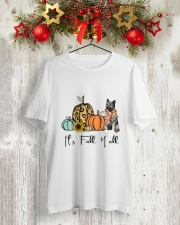 Norwegian Elkhound Classic T-Shirt lifestyle-holiday-crewneck-front-2