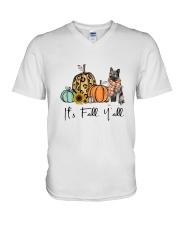Norwegian Elkhound V-Neck T-Shirt thumbnail