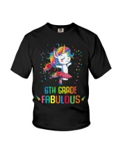 Family 6th Grade Magical QUYT Black Youth T-Shirt front
