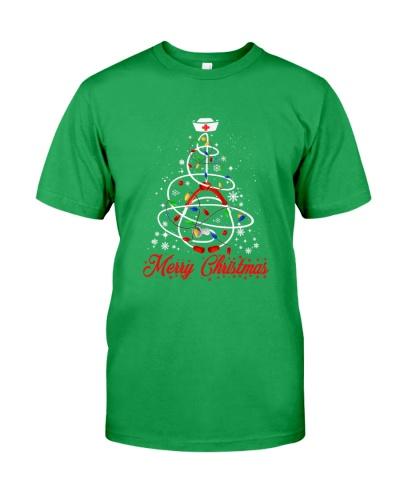 Women Nurse Christmas Tree Lights