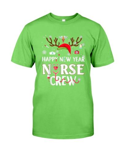 Christmas HAPPY NEW YEAR Nurse Crew Funny