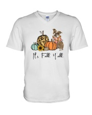 Old English Bulldog V-Neck T-Shirt thumbnail