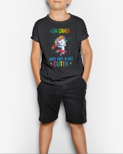 Unicorn 4th Grade Cuter Youth T-Shirt lifestyle-youth-tshirt-front-1