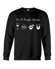 I'm A Simple Woman Wine Flip Flops Dog Gym Crewneck Sweatshirt thumbnail
