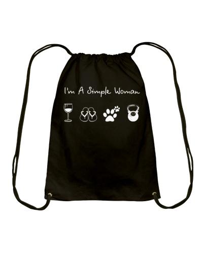 I'm A Simple Woman Wine Flip Flops Dog Gym