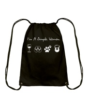 I'm A Simple Woman Wine Flip Flops Dog Gym Drawstring Bag thumbnail