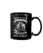 Never Underestimate An Old Man Born In November Mug tile