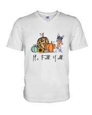 Boston Terrier V-Neck T-Shirt thumbnail