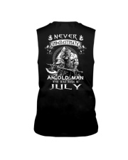 Never Underestimate An Old Man Born In July Sleeveless Tee tile