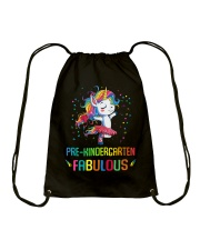 Family Pre-Kindergarten Magical QUYT Black Drawstring Bag thumbnail