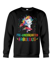 Family Pre-Kindergarten Magical QUYT Black Crewneck Sweatshirt thumbnail