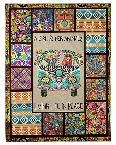 A girl and her animals living life in peace