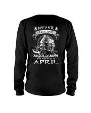 Never Underestimate An Ond Man Born In April Long Sleeve Tee thumbnail