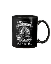 Never Underestimate An Ond Man Born In April Mug thumbnail