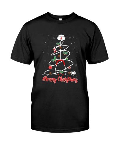 Funny Nurse Merry Christmas Shirt Xmas