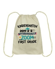 KINDERGARTEN ZOOMING INTO FIRST GRADE Drawstring Bag tile