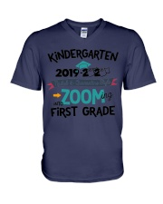 KINDERGARTEN ZOOMING INTO FIRST GRADE V-Neck T-Shirt thumbnail