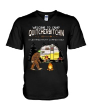 Welcome To Camp Quitchebitchin V-Neck T-Shirt thumbnail