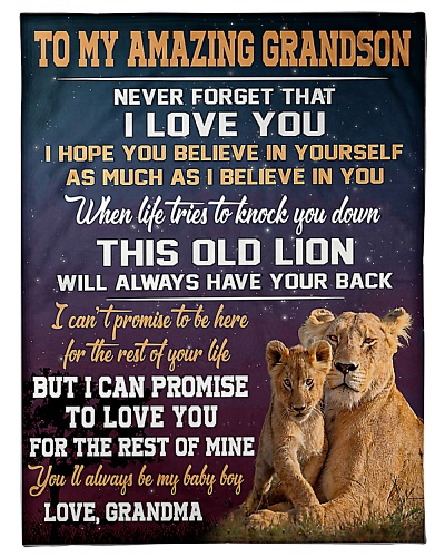 To My Amazing Grandson