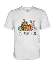 Frenchie V-Neck T-Shirt thumbnail