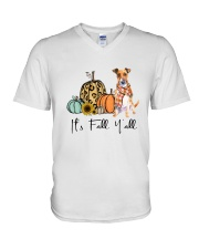 Jack Russell Terrier V-Neck T-Shirt thumbnail