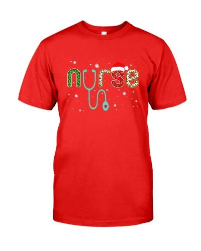 Snow Santa hat snowflake Stethoscope Nurse