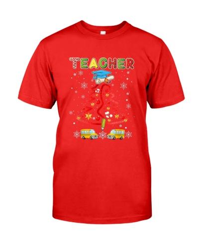 Funny Teacher Christmas Tree Merry Xmas Gift