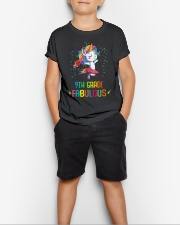Family 9th Grade Magical QUYT Black Youth T-Shirt lifestyle-youth-tshirt-front-1