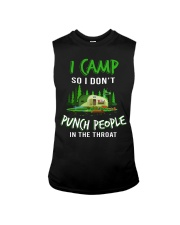 I Camp So I Don't Punch People In The Throat Sleeveless Tee thumbnail