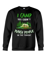 I Camp So I Don't Punch People In The Throat Crewneck Sweatshirt thumbnail