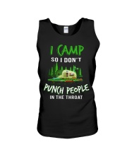 I Camp So I Don't Punch People In The Throat Unisex Tank thumbnail