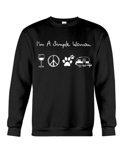I'm A Simple Woman Wine Hippie Dog Camp