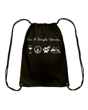I'm A Simple Woman Wine Hippie Dog Camp Drawstring Bag thumbnail