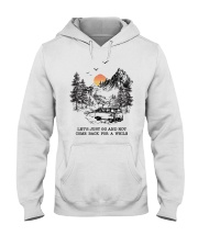 Let's Just Go And Not Come Back For A While Hooded Sweatshirt thumbnail