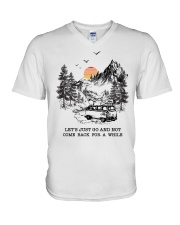 Let's Just Go And Not Come Back For A While V-Neck T-Shirt thumbnail