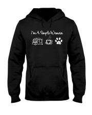 I'm A Simple Woman Camp Coffee Dog Hooded Sweatshirt thumbnail