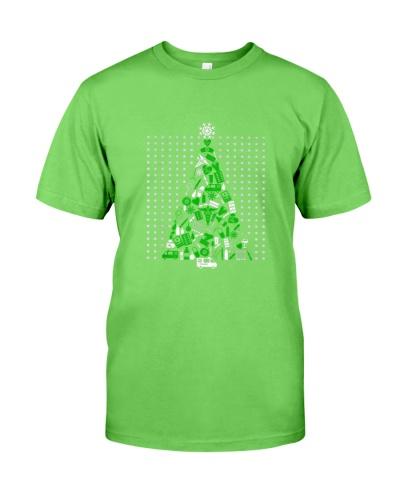 Nurse Christmas Shirt Tree Made