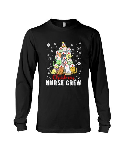 Christmas Cat Nurse Apparel Crew Of Cats