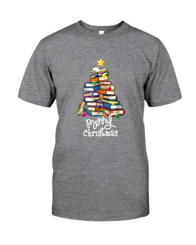 Merry Christmas Tree Shirt Love reading books