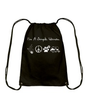 I'm A Simple Woman Doobie Hippie Dogs Camp Drawstring Bag thumbnail
