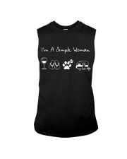 I'm A Simple Woman Wine Flip Flops Dog Camp Sleeveless Tee thumbnail