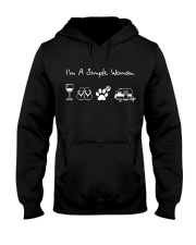 I'm A Simple Woman Wine Flip Flops Dog Camp Hooded Sweatshirt thumbnail