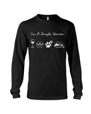 I'm A Simple Woman Wine Flip Flops Dog Camp Long Sleeve Tee thumbnail