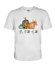 Pomeranian V-Neck T-Shirt thumbnail