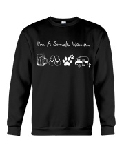 I'm A Simple Woman Beer Flip-flops Dog Camp Crewneck Sweatshirt thumbnail