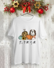 Shih Tzu Classic T-Shirt lifestyle-holiday-crewneck-front-2