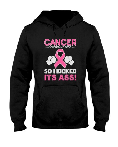 Kick Cancer Ass Funny Support Breast Cancer